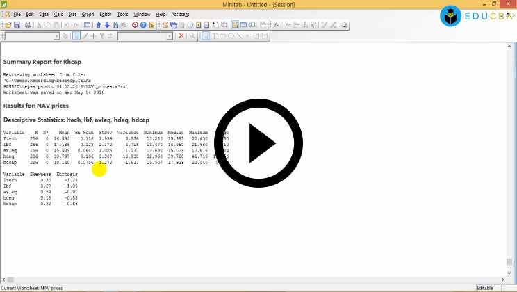 Minitab and Its Application to Predictive Modeling