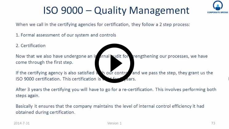 ISO 9000 - Quality Management Training