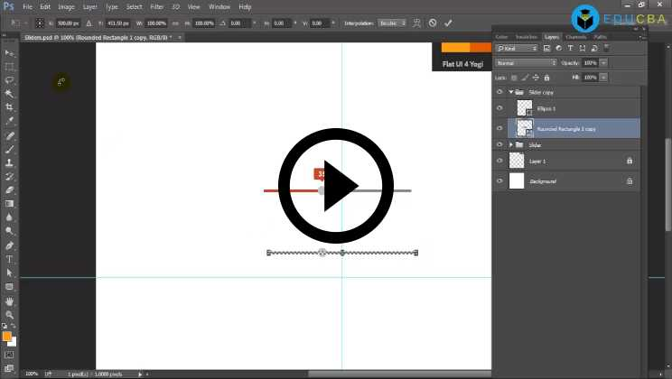 Photoshop:06 - Designing Flat UI Elements