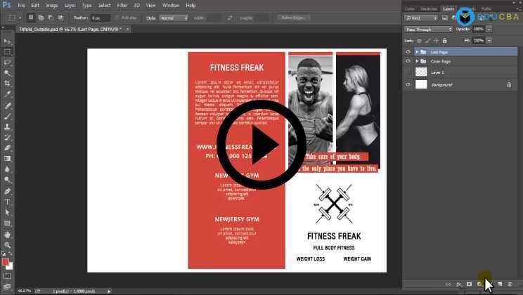 Photoshop:05 - Brochure Designing
