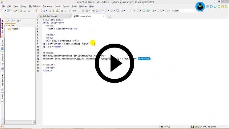 JS HTML DOM Tutorials