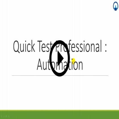 Quick Test Professional Training