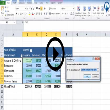 Pivot Table in Excel 2010