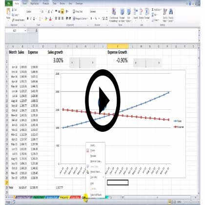 Microsoft Excel 2010 - Finetuning of Graphs & Charts