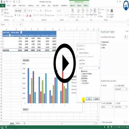 Excel 2013 Pivot Charts