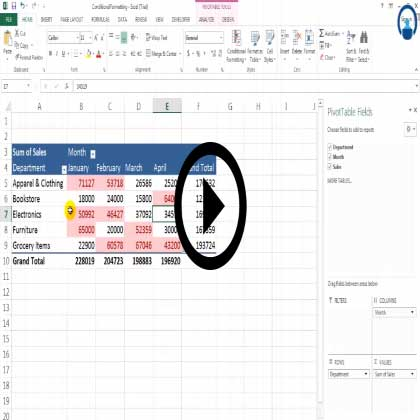 Excel 2013 Pivot Table Formatting