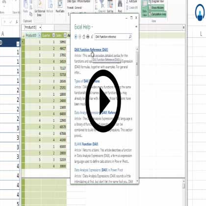 Dax in Excel 2013 Power Pivot