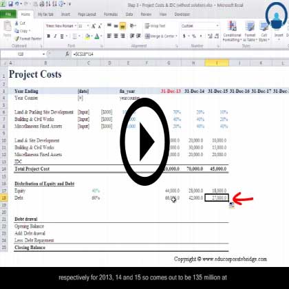 Project Finance Modeling Using Excel