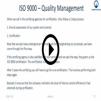 ISO 9000 - Quality Management Training