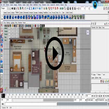 Autodesk Maya Architecture PreVisualization (Module #1) - Setting Up Interior Floor Map