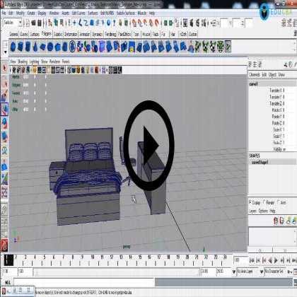 Autodesk Maya Architecture PreVisualization (Module #2) - Bedroom Interiors