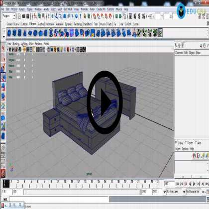 Autodesk Maya Architecture PreVisualization (Module #3) - Living Room Interiors