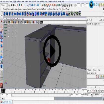 Autodesk Maya Architecture PreVisualization (Module #4) - Making Bathroom & Kitchen Interiors