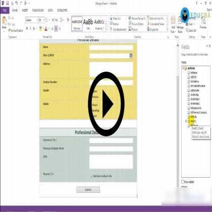 Microsoft InfoPath 2013 (Module #1) - Beginner