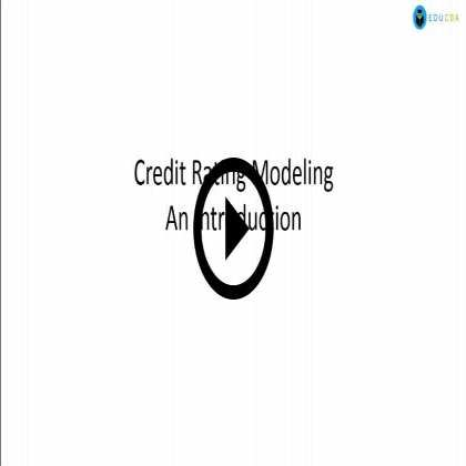 Credit Rating Concepts & Modeling