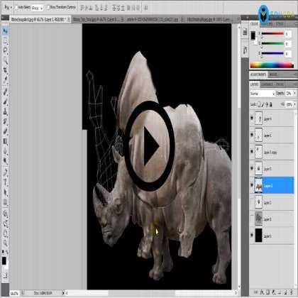 UV Unwrap and Texturing for Wildlife Animal - Rhino