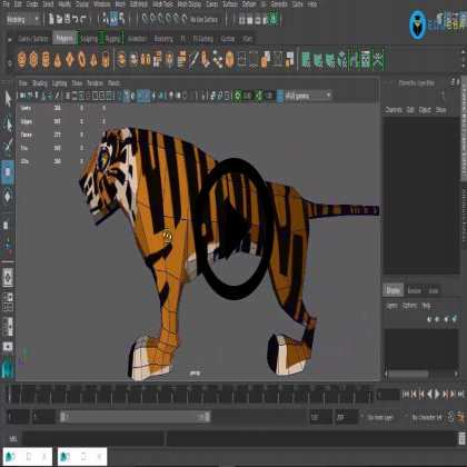 UV Unwrap and Texturing for Wildlife Animal - Tiger