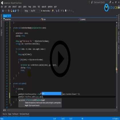 Microsoft Hololens (Module #3) - Advanced Microsoft Hololens