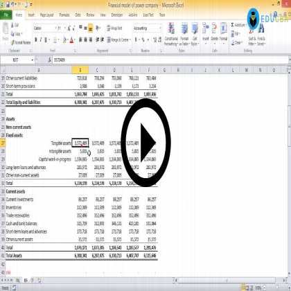 Financial Modeling of Power Sector