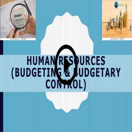 HR Plan for a Startup Firm  (Module #3) - Budgeting