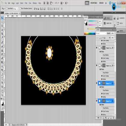 Professional Jewellery Designing using Photoshop