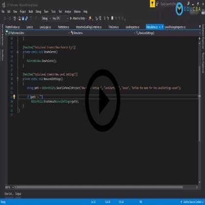 Editor Scripting in Unity : Advanced