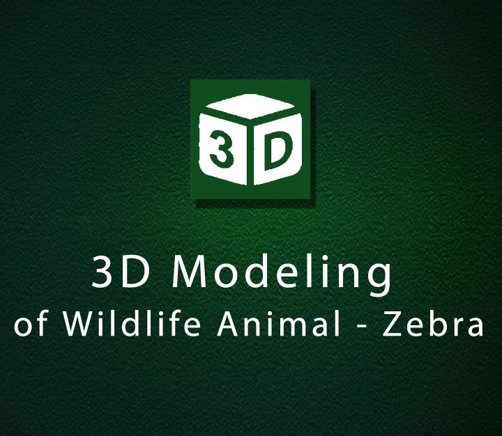 3D Modeling of Wildlife Animal - Zebra - Intermediate - 2 Sessions