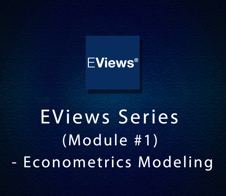 EViews Series (Module 1) - Econometrics Modeling - All Levels - 1 Session