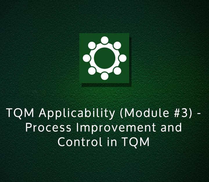 TQM Applicability (Module 3) - Process Improvement and Control in TQM - Intermediate - 4 Sessions